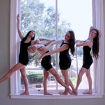 From left, Mississippi School of the Arts students Payton Riley, Cassidy Simmons, Katie Pinkard and Madison Bordelon rehearse a dance.