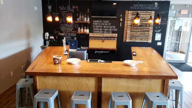 The new bar at Twin Elder Brewery in Victor.