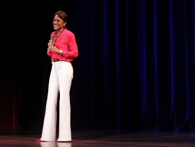Good Morning America Stories Today : Gma s robin roberts speaks inspires at salem benefit