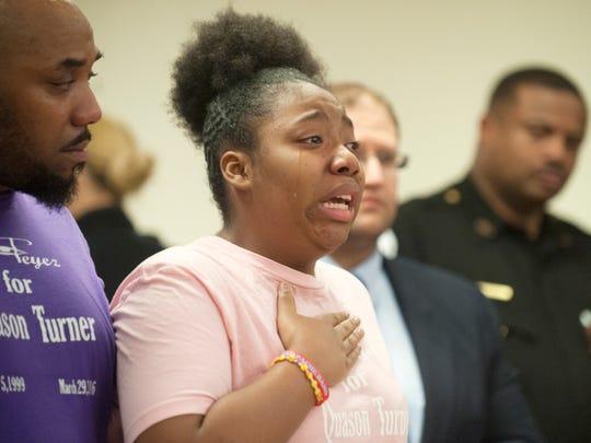 Iyanna Turner, sister of 16-year-old Quason Turner