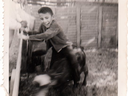 A childhood photo of Henry Magos.