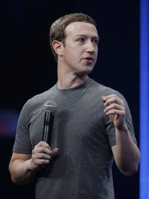 Facebook CEO Mark Zuckerberg talks during the Facebook F8 Developer Conference Wednesday, March 25, 2015, in San Francisco.