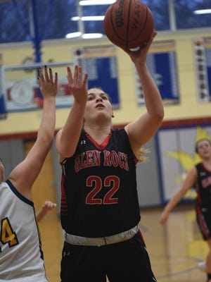 Glen Rock senior forward Kelly Lohr scored her 1,000th career point in the Panthers' 39-32 win over River Dell on Sunday.