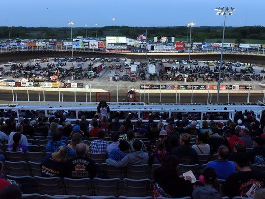 Badlands Motor Speedway grand opening in Brandon, S.D.,
