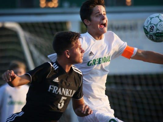 Franklin-Greendale soccer-Thiry/Richlin