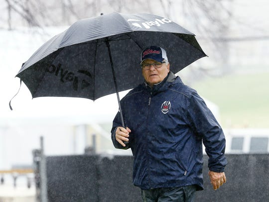 Mendham coach Rich Attonito during Morris County Tournament