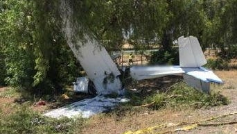 Two people were injured after an airplane crashed near Hargrave Street in Banning. One of them died from his injuries. He was identified as a Patton resident.