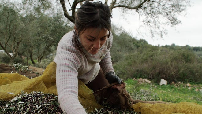 Margianna Xirogianni, 33, works on her farm in Sterna, Greece, on Feb. 13, 2018. She and her siblings left Athens to start a new life — and find employment — after the economic crisis hit their country.