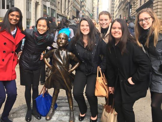 Left to right, are: Trisha, Gabriela, Colleen, Hanna, Brigid, and Lauren.