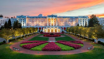 The Greenbrier at night.