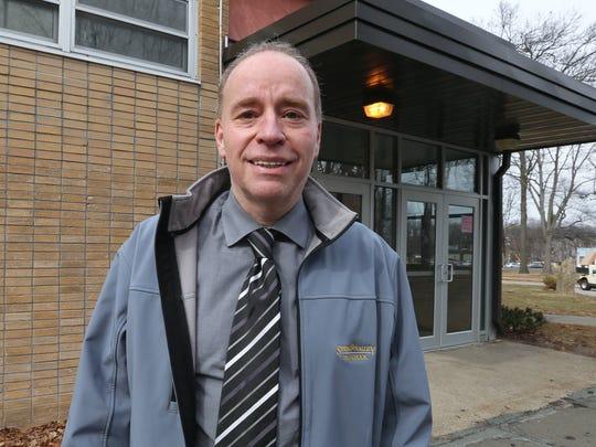 Spring Valley High School teacher Marc Hoberman at the school March 1, 2018.