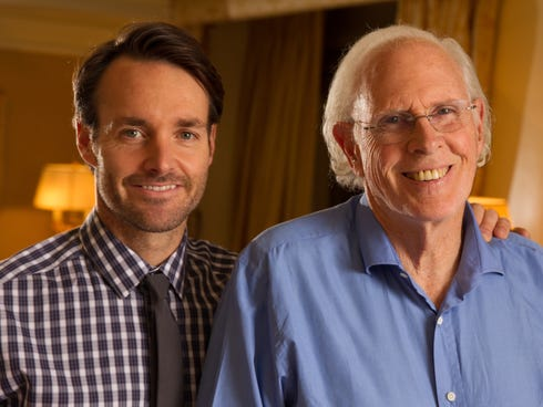 Best actor front-runner Bruce Dern, right, and his co-star Will Forte play father and son in the film 'Nebraska.'