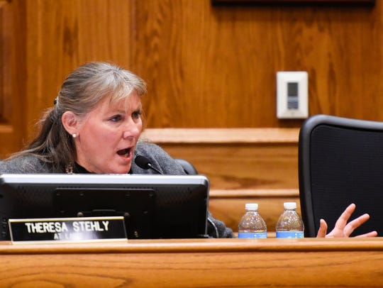 Counselor Theresa Stehly raises concerns about the