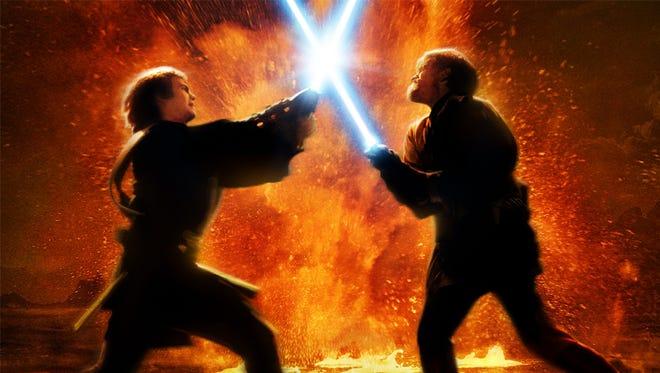 Hayden Christensen as Anakin Skywalker, and Ewan McGregor as Obi-Wan Kenobi in 'Revenge of the Sith.'
