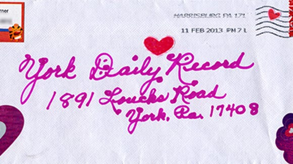 Letter to the Editor envelope submitted by Vivian L. Garner