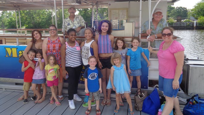 Members of Cumberland County Library's Summer Reading Program were invited to take a cruise on the Maurice River.