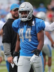 Detroit Lions line backer Jalen Reeves-Maybin goes