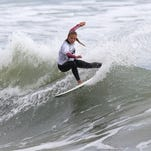 Coral Schuster, 13, winner of under 14 title at ESA Easterns competition in Nags Head, North Carolina.