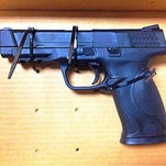The Airsoft-style replica handgun Salisbury Police recovered from one of the teens accused of assaulting an 83-year-old.