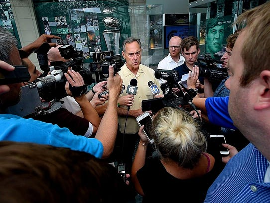 "Mark Dantonio on MSU's image problem: ""I don't think"
