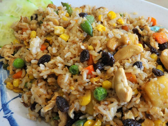 """A """"pineapple fried rice"""" dish prepared Wednesday afternoon at Hmong Eggrolls in Wausau."""