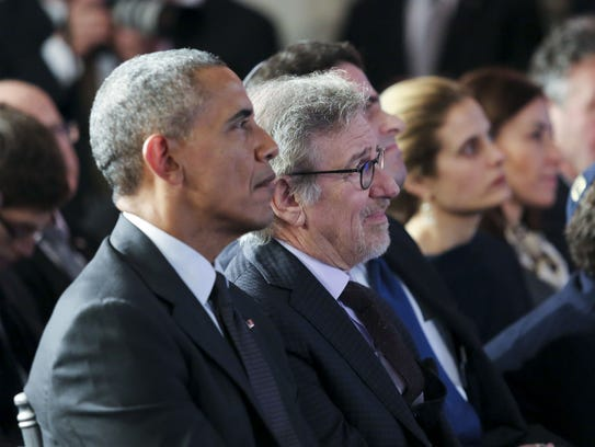 President Obama and Steven Spielberg at the Israeli
