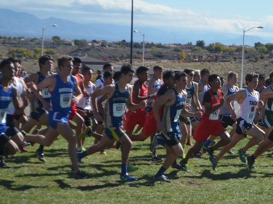 The RHS boys cross country team shaved 30 seconds off of their individual times at the state cross country meet.