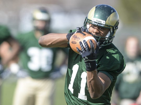 Jordon Vaden, who played both receiver and cornerback for CSU's football team, is trying out with the Jacksonville Jaguars during a rookie minicamp this weekend.