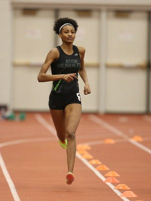 Rush-Henrietta's Sammy Watson wins the 1000 meter race with a time of 2:26.08.