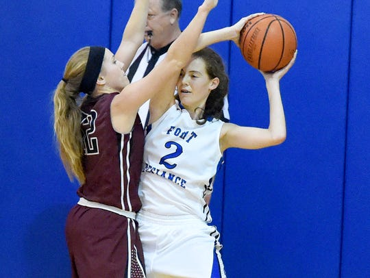 Fort Defiance's Faith Farley (2) is the only junior
