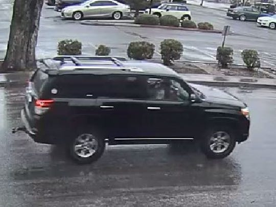 The Carson City Sheriff's Office released a surveillance photo of a black Toyota 4-Runner that was was involved in a recent shooting that stemmed from a road rage incident.