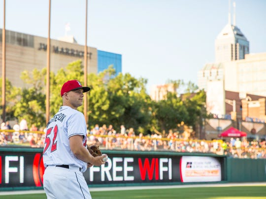 Indianapolis Indians pitcher Justin Masterson last pitched in the major leagues in August 2015.