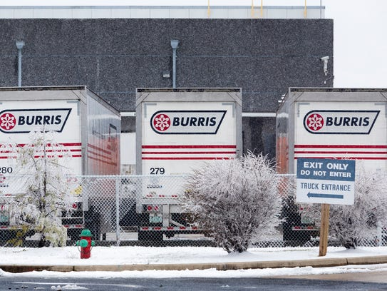 Burris Logistics in New Castle on Tuesday afternoon.