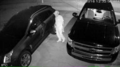 A security camera caught this man trying to break into vehicles in a North Fort Myers neighborhood.
