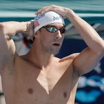 Michael Phelps prepares to compete in the men's 200-meter breaststroke at U.S. swimming nationals Aug. 10, 2015, in San Antonio.