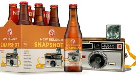 Snapshot beer shows a Kodak Instamatic.