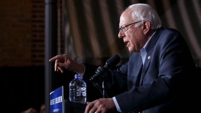 Vermont Sen. Bernie Sanders speaks at a rally in Mason City, Iowa, on Jan. 27, 2016.