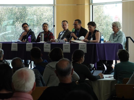 A panel discussion during an immigration forum Saturday
