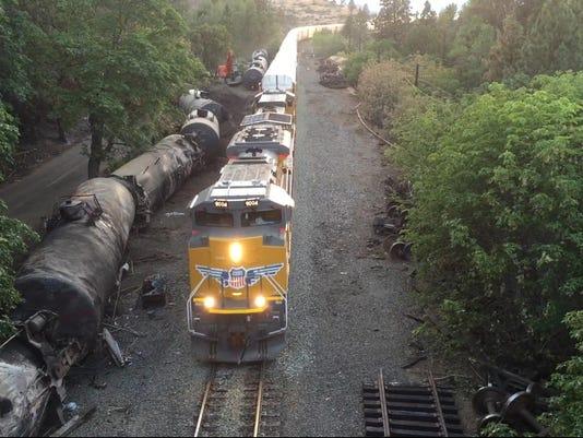 Oil derailment photo