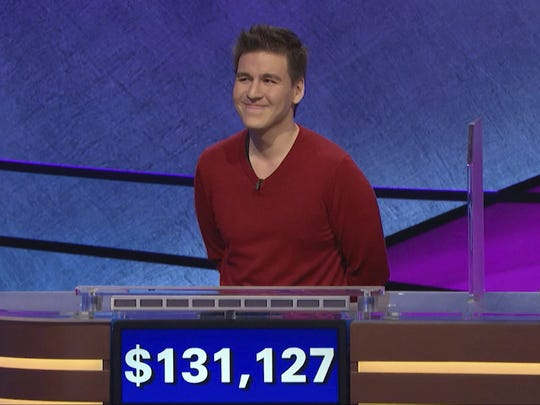 James Holzhauer, who's won around $943,000 and is on track to reach $2.5 million on 'Jeopardy' is shown on April 17, 2019 in this image provided by Jeopardy Productions, Inc.