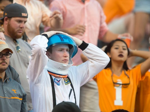 Tennessee fans show their disappointment in the final
