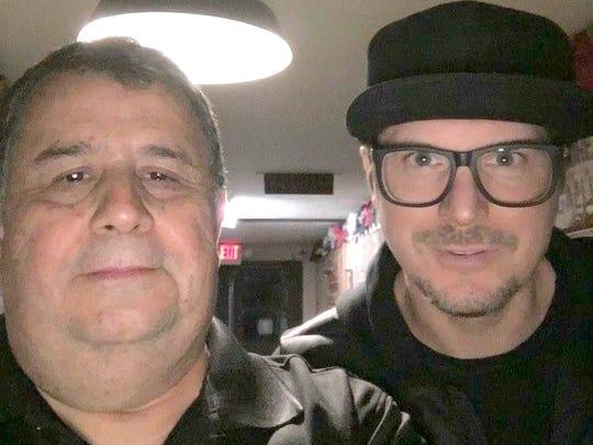 Paranormal Research investigator Ramiro Galvan, left,