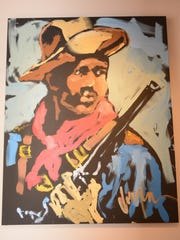 This painting hangs in the Fort Huachuca Museum as