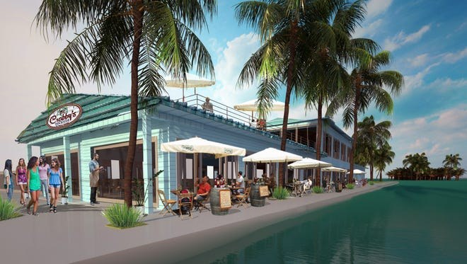 Artist rendering of a proposed Crabby's Dockside restaurant in downtown Fort Pierce.