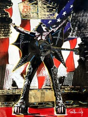 A painting by Kiss guitarist Paul Stanley of bandmate