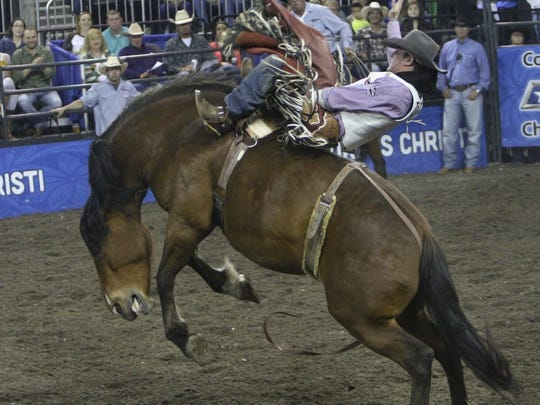 GEORGE TULEY/SPECIAL TO THE CALLER-TIMES Tim O'Connell on Bordertown at American Bank Center during Rodeo Corpus Christi, Saturday, April 16, 2016.
