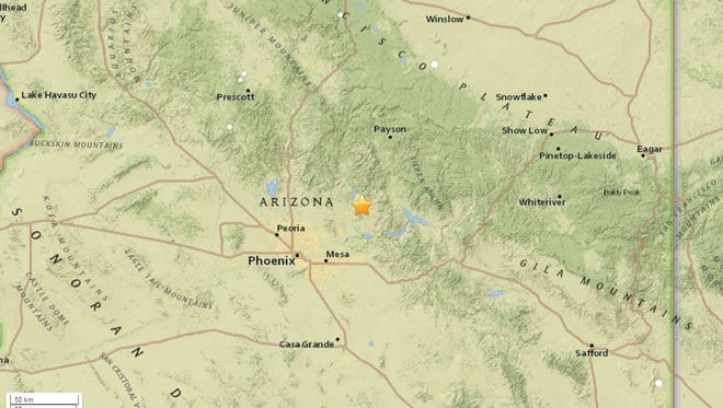A small earthquake hit the Rio Verde area on Friday, Dec. 9.