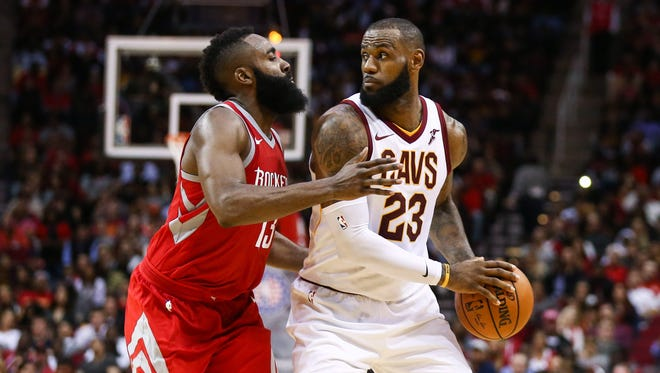 Could LeBron James join forces with James Harden on the Rockets next season?