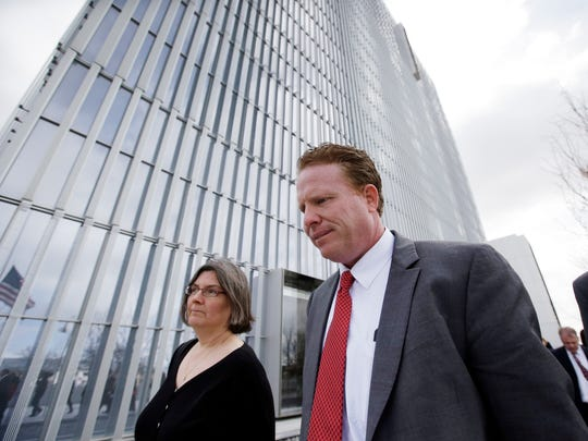 St. George  businessman Jeremy Johnson leaves the Federal
