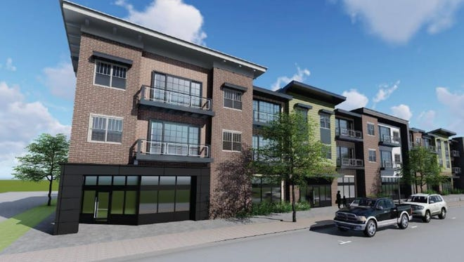 A rendering of the Esker Square development project by Scott Gillespie slated for Cedar Street in downtown Holt.